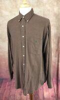 Ralph Lauren Polo Blaire Soft Button Down Long Sleeve Brown Check Shirt Men's L