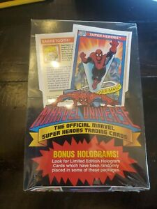 1990 Impel SEALED BOX Marvel Universe Series 1 Trading Cards