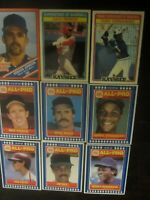 Huge Lot of (9) KayBee & Burger King Baseball Cards Boggs Strawberry Henderson
