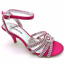 WOMENS LADIES FASHIONS WEDDING DIAMANTE EVENING PROM SIMULATED PARTY SANDALS S-3