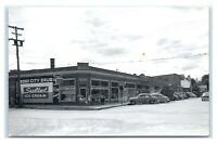 Postcard Rose City, Michigan - Ice Cream, Bicycles, Zenith Radio IGA RPPC N9