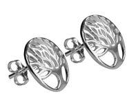 925 Sterling Silver Tree of Life Stud Earrings (Design 4)