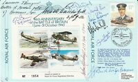 JSF9 46th Anniversary  Battle of Britain  Signed by 9 Battle of Britain Pilots