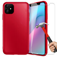 Vitre Protection Verre trempé + Cover Slim Coque iPhone 11 Pro Max/XS/XR