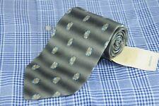 Joseph Abboud Men's Tie Gray Blue & Gold Geometric Silk Neck 56 x 4 in.