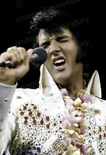 8x10 Print Elvis Presley on Stage Performing #EPAD