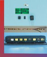 5 x Waggonbeleuchtung Wagenbeleuchtung Spur TT komplett Set SMD für Analog KW