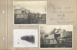 3x Foto Panzer Panther 1943 Kirowograd   Reg. G . Deutschland  org. Aufnahme