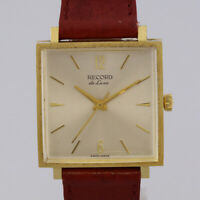 Record De Luxe 18ct Yellow Gold Gent's Square Manual Watch