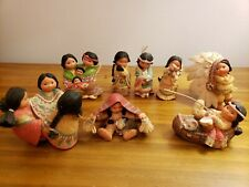 Friends Of The Feather - Lot of 8 - Vintage Enesco Indian Figurines