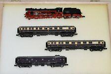 N Scale Custom Set Arnold BR 41 W SMOKE & 3 Minitrix Rheingold Pass Cars 2 LITE