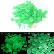 Artificial 100Pcs Glow In The Dark Stones Pebbles Luminous Garden Outdoor Decor