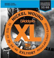 5 Sets D'Addario EXL110BT Electric Guitar Strings 10-46 Balanced Tension Light