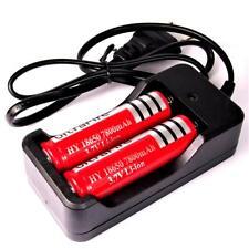 2 x HY 7800 mAh 18650 Batterie Li-ion 3,7 V-par 29 g + Double-Chargeur