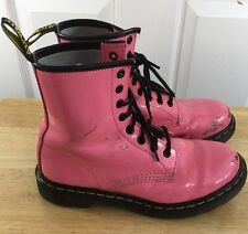 Dr. Martens Women's Size 7 Us Pink Leather Boots Docs Original 38 Eu 5 U.K.