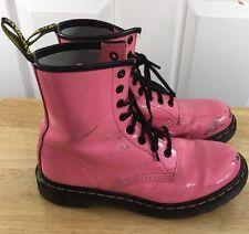 Dr. Martens Women's Size 7 Us Pink Leather Boots Docs Original 38 Eu 5 U.K.