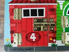 """Melissa & Doug 11.5"""" x 15.5"""" Wooden Latches Board Numbers Animals."""