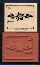 TO: FROM: POINSETTIA Holiday Gift Tag NEW Stampin' Up! 1998 Craft RUBBER STAMP
