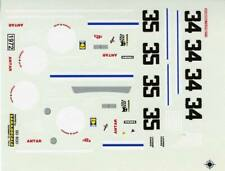 FERRARI 365 GTB4 DAYTONA N°34/35 SCUDERIA FILIPINETTI LE MANS 1972 DECALS 1/43