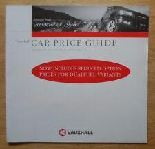Vauxhall gamma ORIG 1998 UK inchiostri prezzi BROCHURE-CORSA ASTRA OMEGA TIGRA VECTRA