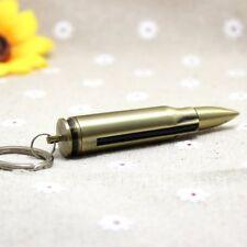 Permanent Match Keychain Emergency Lighter Bullet Waterproof Survival Tool KK