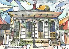 Original Hand Painted FRENCH QUARTER, JACKSON SQUARE, NEW ORLEANS, LOUISIANA