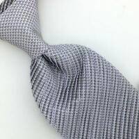 "Brioni Tie Italy Gray Micro Dot Square Pleated Necktie Luxury Ties L5 XL 62"""