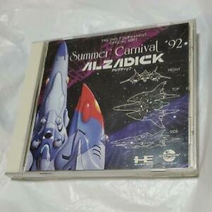 Summer Carnival '92 Alzadick PCEngine Super CD-ROM Naxat Used Japan Shooter
