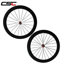 U Shape 25mm Width 60mm Clincher carbon bicycle SAT wheelset tubeless compatible