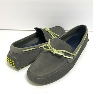 Cole Haan Air Grant Gray Suede Driving Shoes Loafers Moccasins Mocs Mens 12