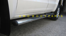 """Toyota Hilux 2005 to 2014 Dual Cab 4"""" Stainless Steel Side Step Running Boards"""
