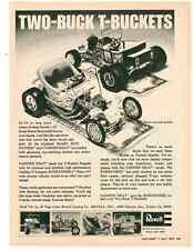 1973 TWO-BUCK T-BUCKETS  ~  RARE ORIGINAL REVELL AD