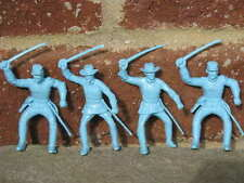 MARX UNION US CIVIL WAR CAVALRY SOLDIERS 1/32 54MM CUSTER TOY PLAYSET BLUE