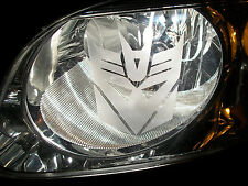 DECEPTICON Transformer (pair) D HEAD LIGHT Taillight Vinyl sticker ETCHED DECAL