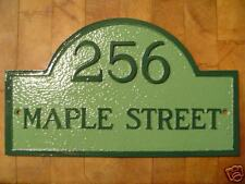 Custom Cast Aluminum Small Arched House Plaque Sign