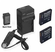 TWO Batteries + Charger for Panasonic DMC-FS6PC DMC-FS7 DMC-FS7A DMCFS6PC DMCFS7
