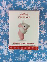 Hallmark Keepsake Ornament Baby Girl's 1st Christmas 2017 NEW