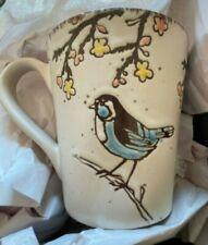 New listing Nwot Spectrum Designz Easter Bird Mug Reactive Mug Blue Bird Mug Cup Loc56