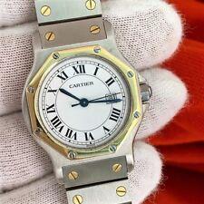 Cartier Santos Watch Solid 18K Gold Bezel Women's Cartier WATCH MID SIZE CARTIER