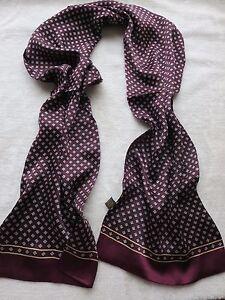 Men's 100% Mulberry Silk Scarf Neckerchief Double Layer plum blossom Red Blue