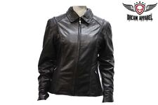 Womens Cowhide Motorcycle Leather Jacket