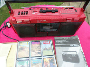 vintage sharp radio cassette recorder WQ-T231Z boom box