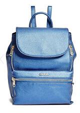 NWT GUESS $98 Alanis Zip Backpack Hobo Handbag Metallic Blue