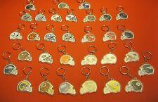 (31) NOS! vintage NFL HELMET KEYCHAIN LOT Patriots Jets Cowboys Broncos Vikes +!