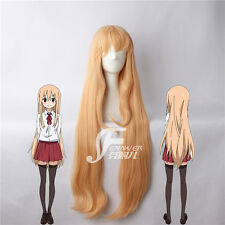 100cm Long Straight Himouto ! Umaru-chan Umaru Doma Cosplay Wig Hair + wig cap