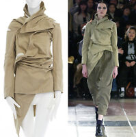 runway COMME DES GARCONS AW03 square zip up bundled deconstructed trench coat S