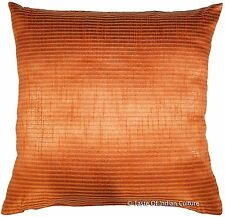 Indian 16'' Square Cushion Pillow Cover Silk Dupion Sofa Throw Home Boho Decor