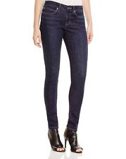 NEW Eileen Fisher Size 0 F5MDN Washed Indigo Dark-denim Stretch Skinny Jeans