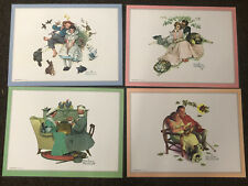 4 Norman Rockwell Prints 4 Ages Of love Set Matte Plastic Laminated Placemats