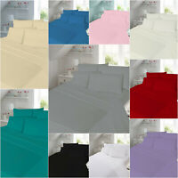 100% Soft Brushed Cotton Flannelette Flat Bed Sheets and Pillowcases - SALE